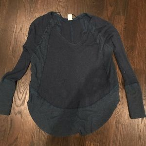 Free people midnight blue sweater